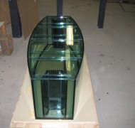 Precision aquarium with a Starphire front panel and an internal sump/refugium filtration system